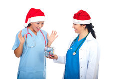 Doctors celebrate Christmas Royalty Free Stock Photography