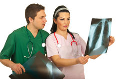 Doctors  checking X-ray Stock Photography