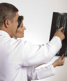 Doctors are  checking x ray Royalty Free Stock Photos