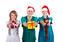 Doctors Christmas Royalty Free Stock Photo