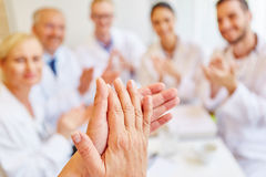 Doctors clapping hands. And applauding on consent royalty free stock photos