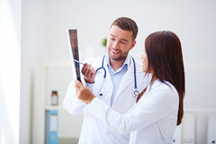 Doctors collaboration in office Stock Photo