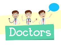 Doctors Concepts and Banner Vector Royalty Free Stock Images