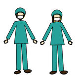Doctors couple Stock Images