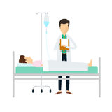 Doctors diagnosis patients Medical and science. Medical and Healthcare people concept Royalty Free Stock Photo