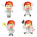 Doctors emotions. 4 action of Doctors emotions Royalty Free Illustration