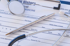 Doctors essentials are lying on the table Royalty Free Stock Photography