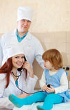 Doctors examining the baby Royalty Free Stock Photo