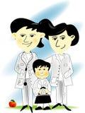doctors familjjpg royaltyfri illustrationer