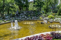 Doctors' Garden small fountain in Sofia Stock Photos