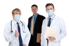 Doctors give the thumbs up Royalty Free Stock Image