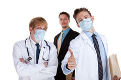 Doctors give the thumbs up Stock Photo