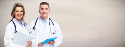 Doctors group. Group of medical doctor over health care background Royalty Free Stock Images