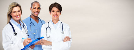 Doctors group. Group of medical doctor over health care background Stock Photo