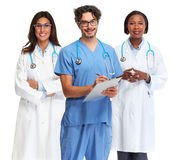 Doctors group. Group of medical doctors isolated white background stock images