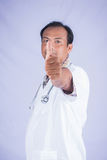 Doctors hand show assent Stock Images