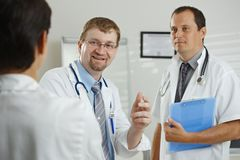 Doctors having consultation Stock Image