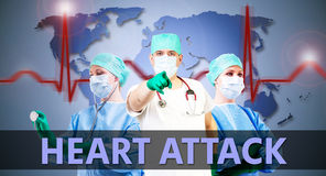 Doctors heart attack Royalty Free Stock Photography