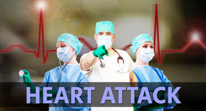 Doctors heart attack Stock Photography