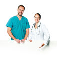 Doctors holding  blank board Stock Images