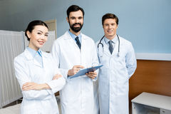Doctors holding diagnosis Royalty Free Stock Photo