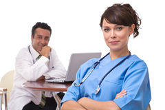 Doctors at the hospital Stock Photos