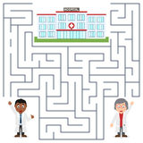 Doctors and Hospital Maze for Kids Royalty Free Stock Photo
