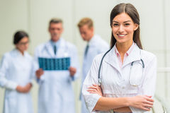 Doctors in hospital royalty free stock image