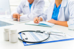 Doctors in hospital Stock Photo