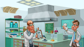 Doctors in the lab Royalty Free Stock Images