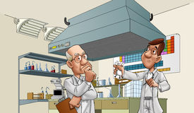 Doctors in the lab Royalty Free Stock Photo