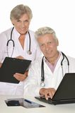 Doctors with a laptop Stock Image