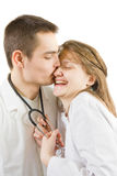 Doctors in love Stock Image