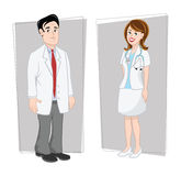 Doctors male & female Stock Photos