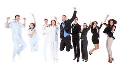 Doctors and managers jumping Stock Images