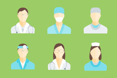 Doctors and Medical Staff Set. Vector Stock Photos