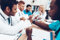 Multinational Doctors Group Diagnostic Meeting. royalty free stock photos