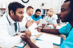 Multinational Doctors Group Diagnostic Meeting. royalty free stock photography