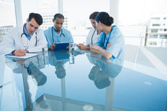 Doctors in a meeting at hospital Stock Photo