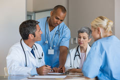 Doctors in a meeting Stock Photography