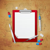 Doctors Notebook Medical Composition royalty free illustration