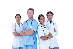 Doctors and nurse with hand crossed together Royalty Free Stock Photography