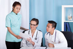 Doctors and nurse during work Royalty Free Stock Photography