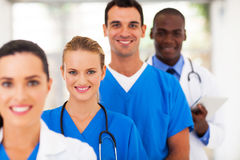 Doctors and nurses. Group of medical doctors and nurses portrait stock photography