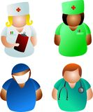 Doctors and nurses stock photo