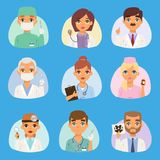 Doctors and nurses medical staff vector people. portrait Medical team doctors specialists concept in flat design cartoon. Characters. Doctors specialist uniform Stock Photo