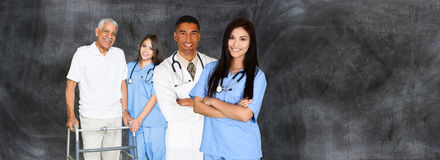 Doctors and Nurses. Medical team of doctors and nurses in a hospital Stock Photo