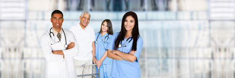 Doctors and Nurses. Medical team of doctors and nurses in a hospital stock photography