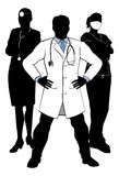 Doctors and Nurses Medical Team Silhouettes Stock Image