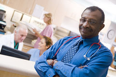 doctors nurses reception Στοκ εικόνα με δικαίωμα ελεύθερης χρήσης